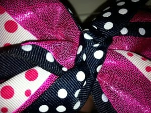 centerknotglue 300x224 How To Make a Rockin Cheer Bow