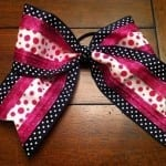 spandex cheer bow