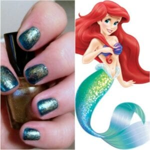 mermaidcollage 300x300 How to Paint Mermaid Nails