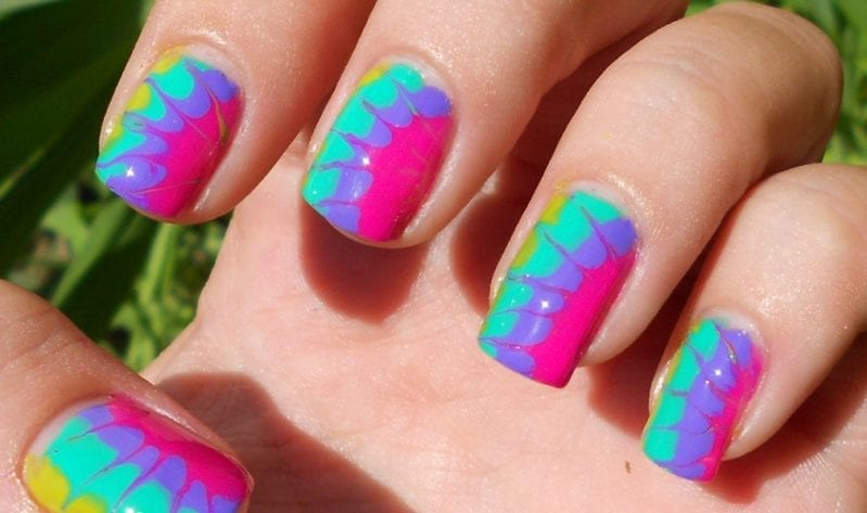 tie dyed nails 5 Awesome Nail Designs