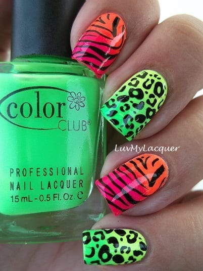 Neon Nails from Luv My Lacquer