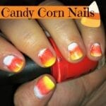 Candy Corn Nail Art