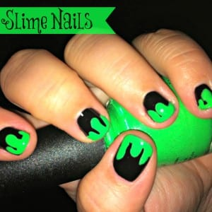 Slime Nails for Halloween