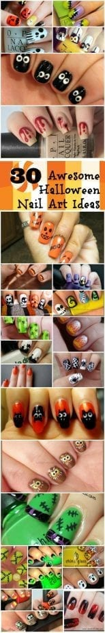 30 Awesome Halloween Nail  Art Ideas from Totally The Bomb.com