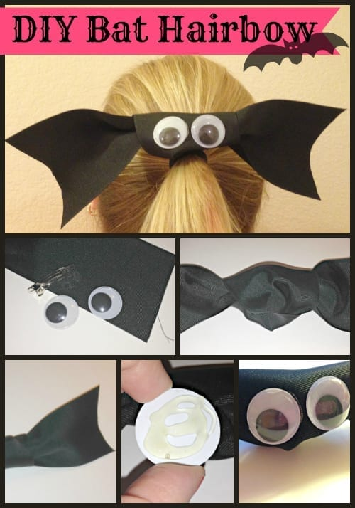 DIY Bat Hairbow from TotallyTheBomb.com