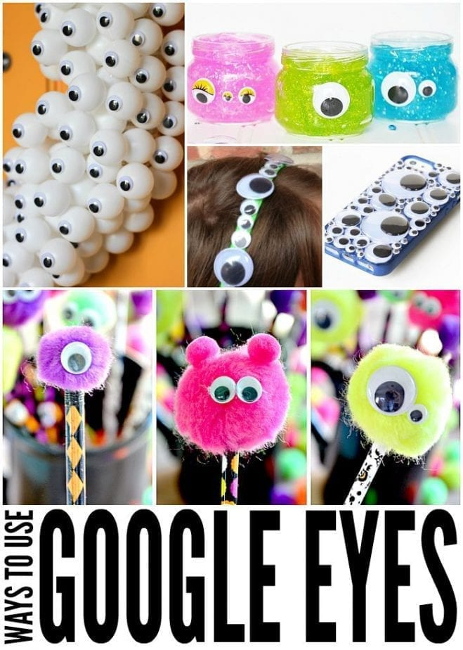 Lots of ways to use google eyes. So fun!