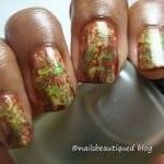 Thanksgiving Saran Wrap Nails by Nails Beautiqued