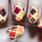 Fall Quilt Nails by Falling For Fall