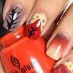 Falling Leaves Nail Art by College Polished
