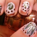 Fall Water Marble Nail Art by Sparkly, Sharp, and Fabulous