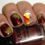 Thanksgiving Turkey Nails by Rin's Nail Files