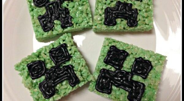 Minecraft Rice Krispies Perfect for a Minecraft Birthday