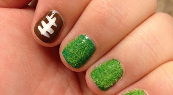 Football Nails by TotallyTheBomb.com