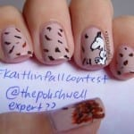 Snoopy Fall Leaf Nail Art by The Polish Well