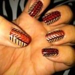 Herringbone Fall Nails by Bijou Love