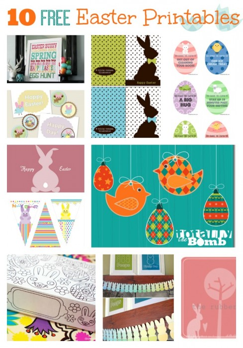 10 Free Easter Printables 489x700 10 Adorable Free Easter Printables
