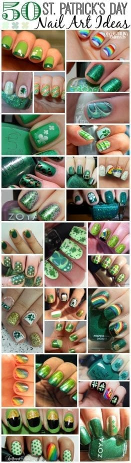 50 St Patricks Day Nail Art Ideas1 St. Patricks Day Nail Art Ideas