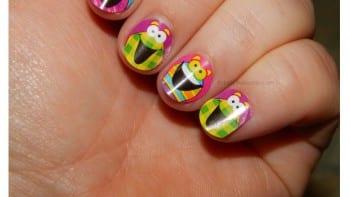 DiY Sticker Nail Art