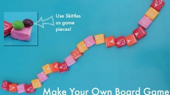 Make your Own Board Game With Starburst and Skittles #AD #CBIAS