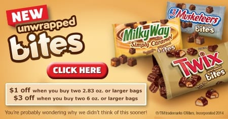 twix bites coupon