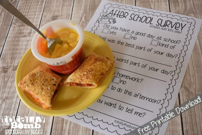 free printable after school survey download
