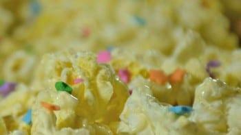 white chocolate popcorn sponsored by pop secret