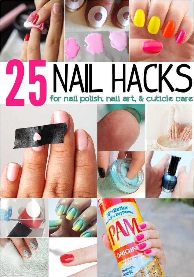 25 nail hacks for nail polish nail art and cuticle care