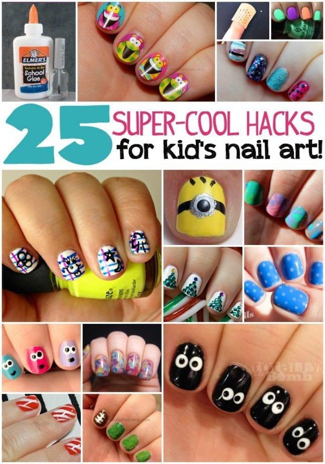 25 super cool hacks for kid's nail art