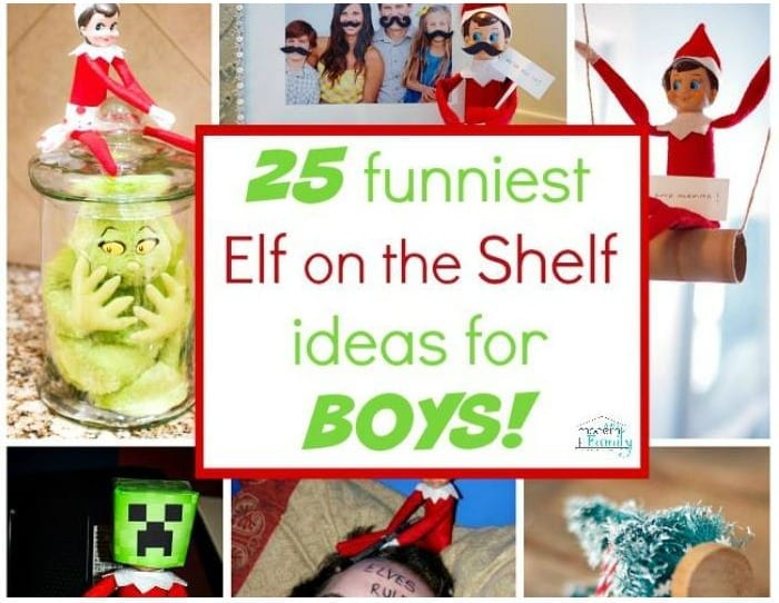 best and funniest elf on the shelf ideas for boys