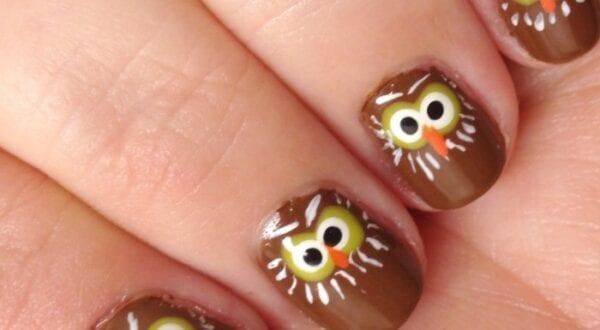 paint owl nails