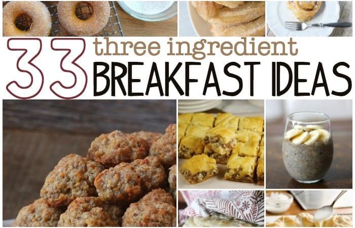 three ingredient breakfast ideas