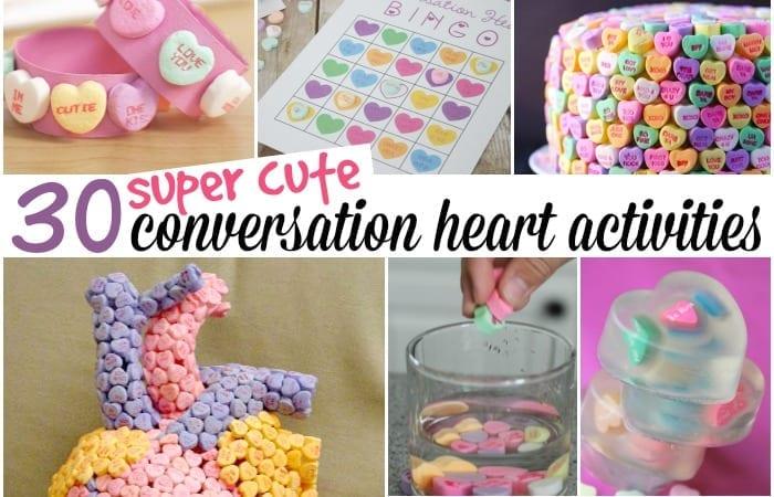 30 super cute conversation heart activities