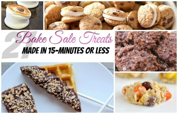 27 bake sale treats made in 15