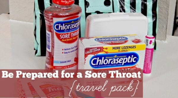 Be Prepared for a Sore Throat Travel Pack Feature