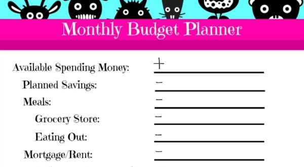 Free Printable Quick Monthly Budget Planner Feature