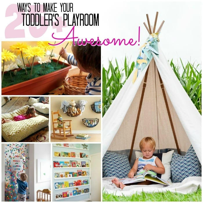 Toddler Playroom Awesome Square w txt