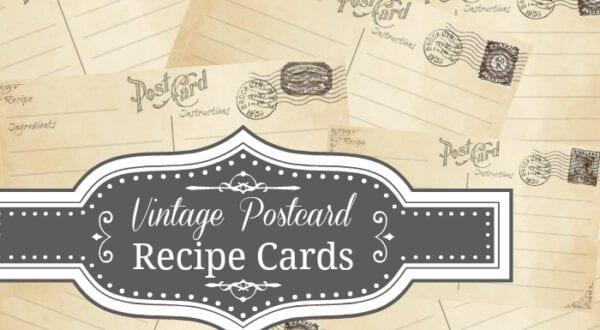 Vintage Postcard Recipe Card Feature