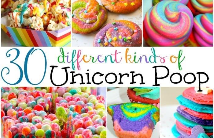 30 kinds of unicorn poop