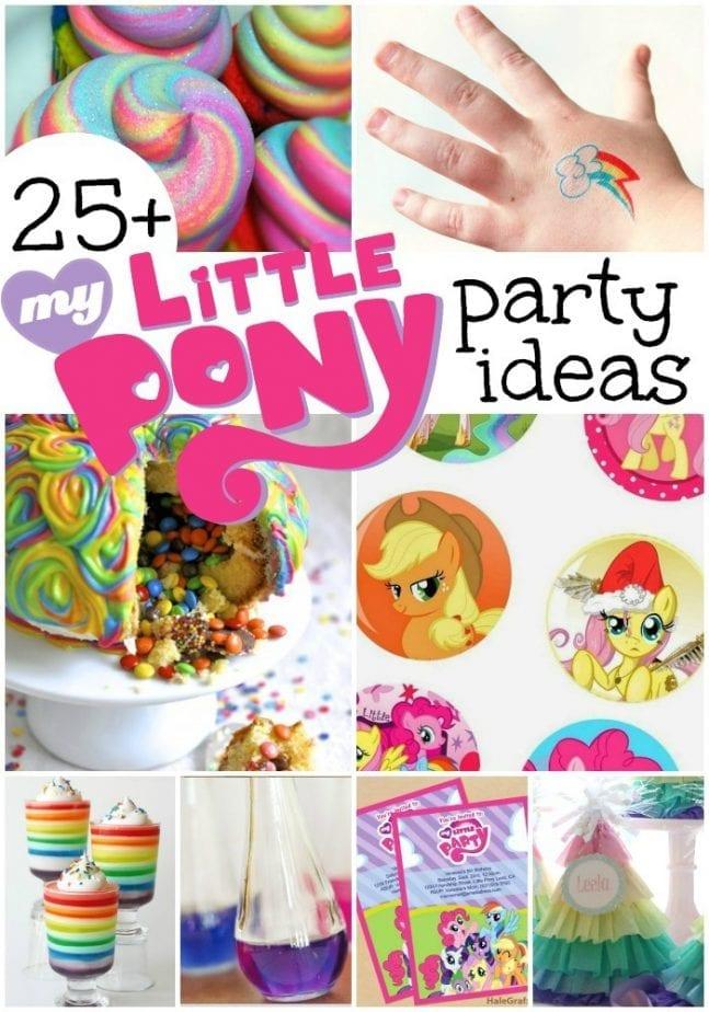 My Little Pony Party Ideas Pin txt