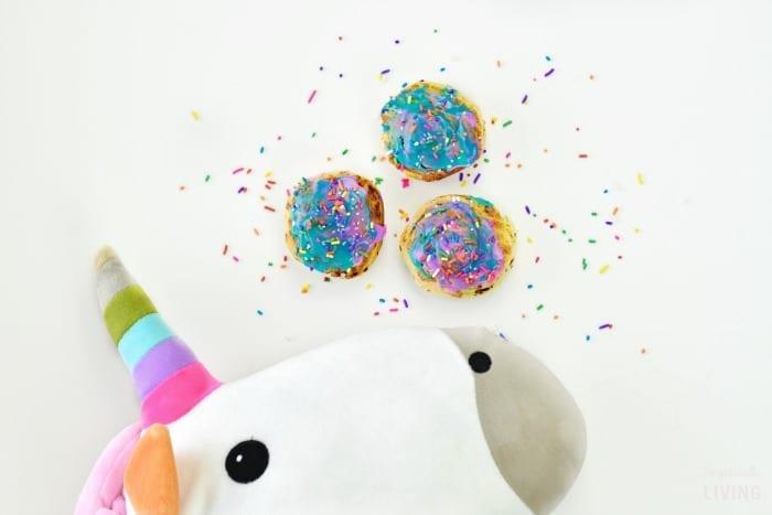unicorn poop cinnamon rolls