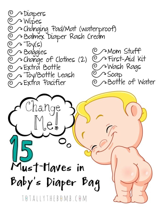 Printable Diaper Back Checklist site