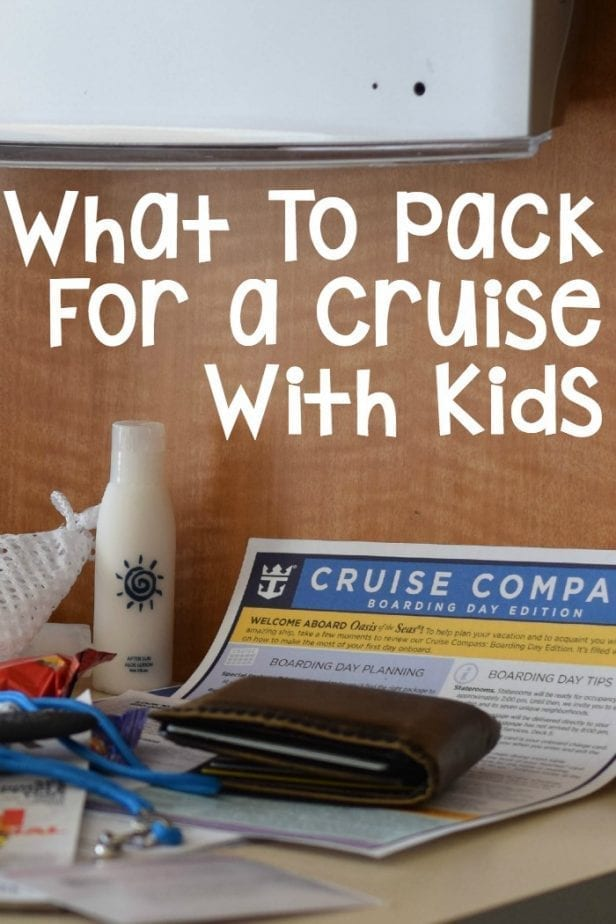 cruise with kids packing