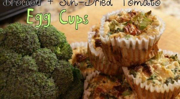 Broccoli & Sun-Dried Tomato Egg Cups