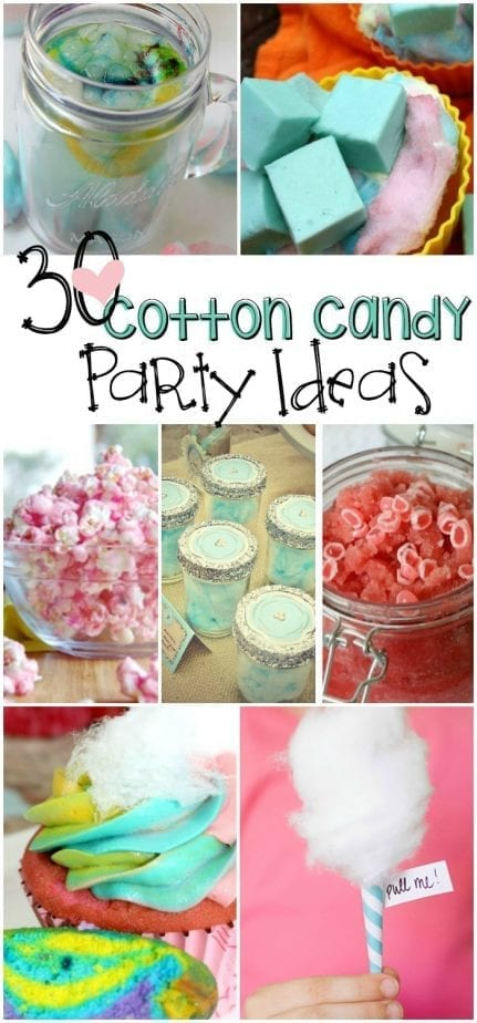Cotton candy party ideas pin