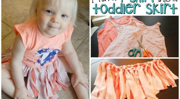 how to make a no-sew toddler skirt from a t-shirt feature