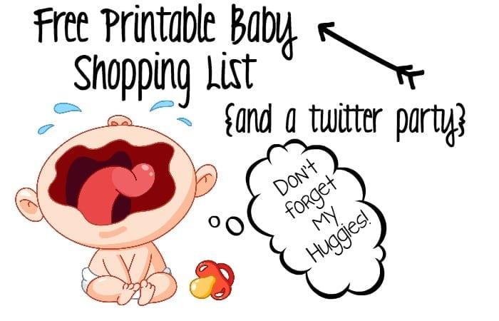 shopping list for a newborn feature