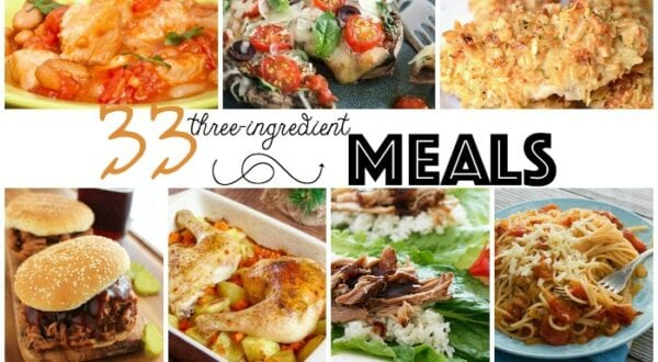 three ingredient meal ideas feature