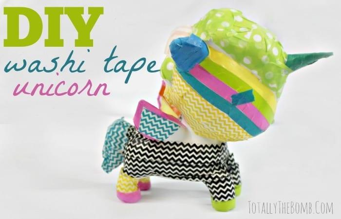 DIY Washi Tape Unicorn Craft Project How To