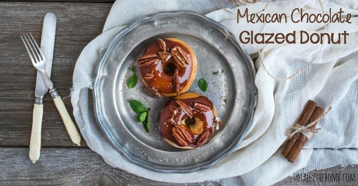 mexican chocolate glazed donuts