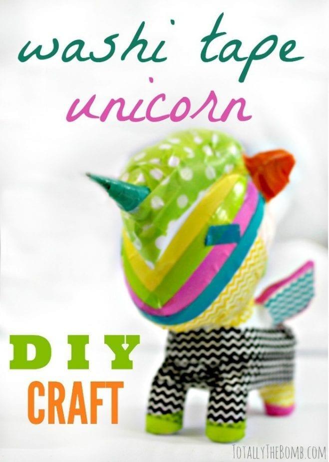 diy washi tape unicorn craft